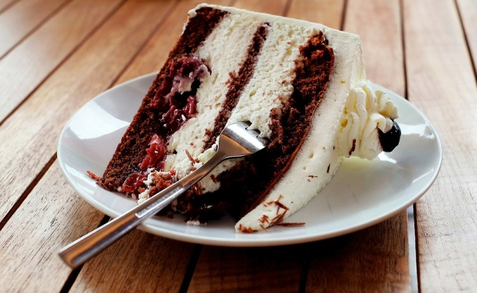 Black Forest Piece Of Pie Cake Calories Eat