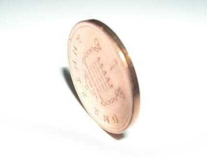 British Penny Penny Copper Portcullis Coin