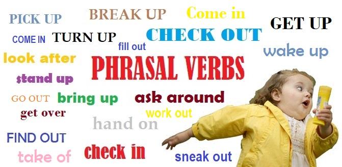 phrasal verbs menina correndo