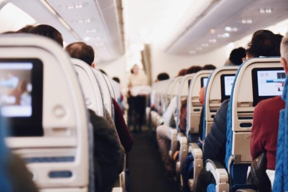 Indoor People Airplane Sitting Airline Passengers